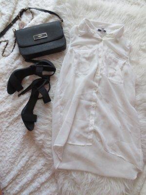 Weiße ärmellose Bluse in Xs