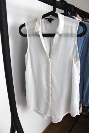 Weiße Ärmellose Bluse von H&M