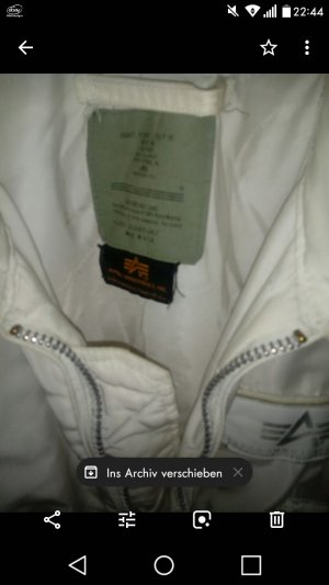 Alpha Industries Jacket white mixture fibre
