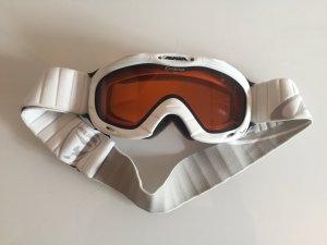 Weiße Alpina skibrille