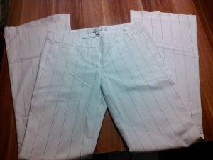 weiße Anzugshose mit Nadelstreifen Gr. 36