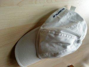 Basefield Gorra de béisbol blanco-azul oscuro Algodón
