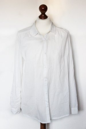 Weiße Basic Bluse Hemd H&M schick 38 S