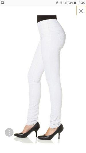 Weiße Bauch-Weg Jeans Jeggings Skinny Röhre