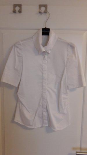 weiße Baumwoll-Bluse mit Puffärmel, Gr. 36 von RENÉ LEZARD