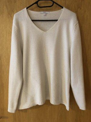 weiße Baumwolle Pullover