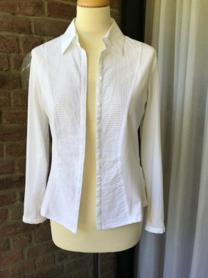 Anne Fontaine Long Sleeve Blouse white cotton