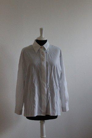 Blusa ancha blanco-color oro