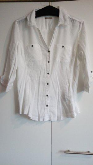 Weiße Bluse 3/4-Ärmel