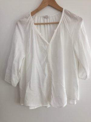 Weiße Bluse  3/4 Arm