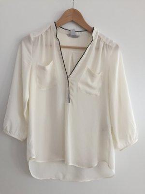 Weiße Bluse 3/4 Armlänge