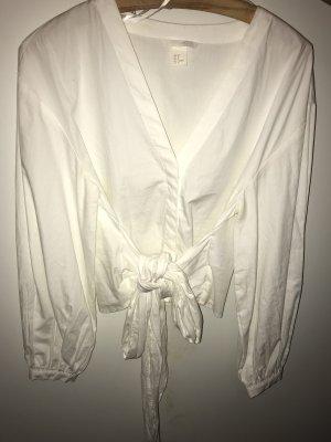 H&M Blusa cruzada blanco