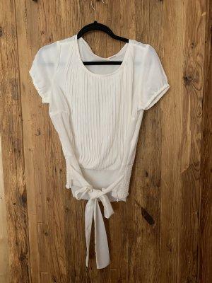b.p.c. Bonprix Collection Blusa de manga corta blanco puro-blanco