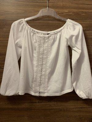 H&M Divided Blusa in lino bianco sporco-bianco Cotone