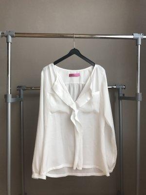 Weiße Bluse aus Seide