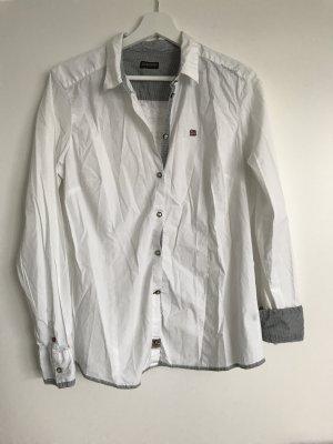Weiße Bluse aus Stretch