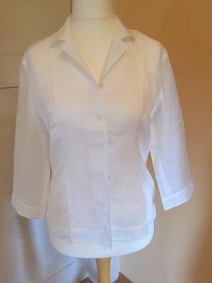 Yarell Short Sleeved Blouse white linen