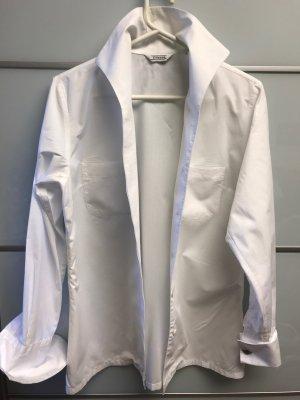 Weiße Bluse des Edelblusenherstellers Einhorn