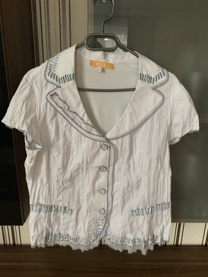 Biba Short Sleeved Blouse white