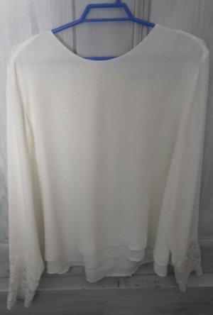 weiße Bluse, festlich