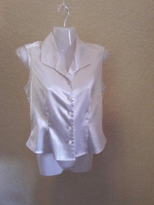Blouse brillante blanc polyester
