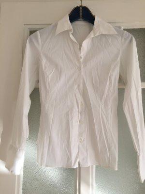 weiße Bluse, Größe 36, tailliert, hochwertig, Business, edel, Elefant