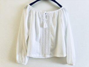 H&M Carmen blouse wit