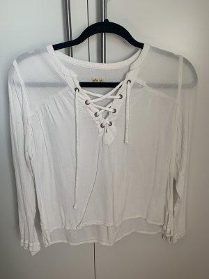 Hollister Long Sleeve Blouse white-natural white