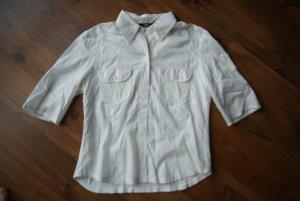 weiße Bluse ideal für heiße Tage mit 7/8 Ärmeln