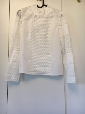 Weiße Bluse in Boho Stil