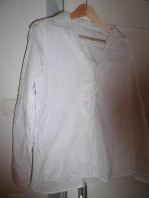 Cuello de blusa blanco tejido mezclado