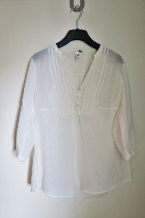 Weiße Bluse mit 3/4 Ärmel