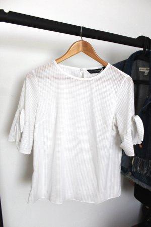 Weiße Bluse mit 3/4 Ärmeln