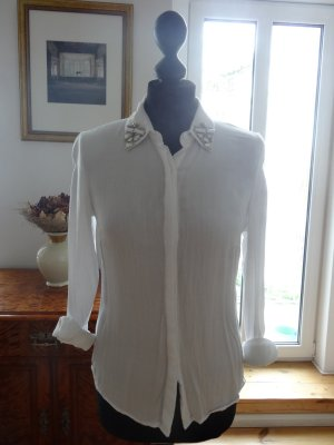 Vila Blouse white-silver-colored