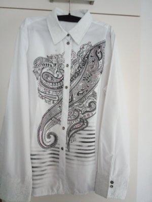Weiße Bluse mit Aufdruck von Bonita Gr.42