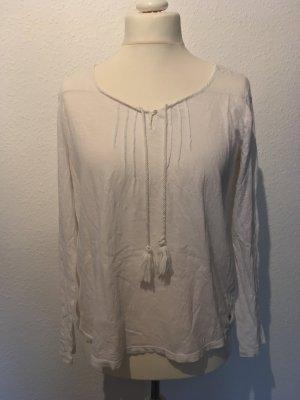 Weiße Bluse mit Bändeln in M