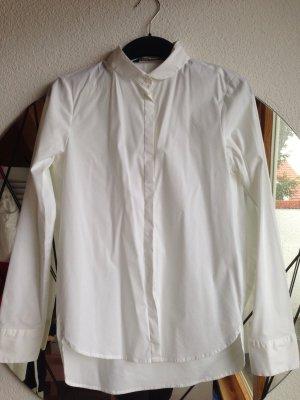 weiße Bluse mit Bubikragen Zara Größe S