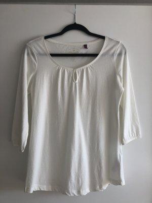 Weiße Bluse mit dreiviertel Armen