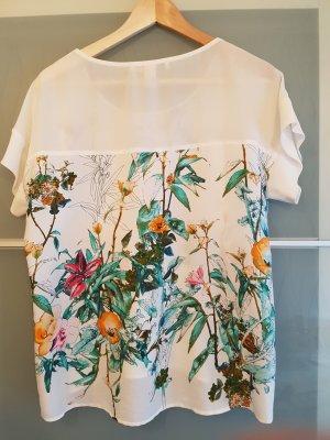 Weiße Bluse mit floralem Print