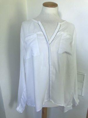 weiße Bluse mit Glitzer
