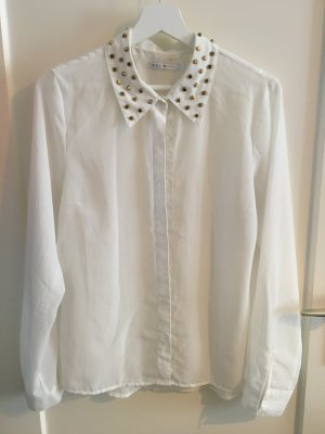 Only Transparent Blouse white-gold-colored