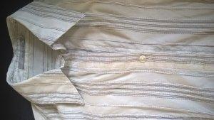 Weiße Bluse mit grauen Streifen