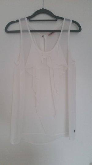 Weiße Bluse mit großer Schleife