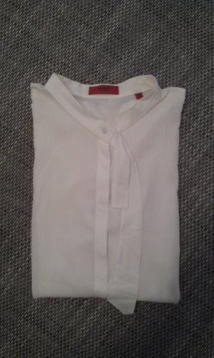 weiße Bluse mit Kurzarm von Hugo Boss