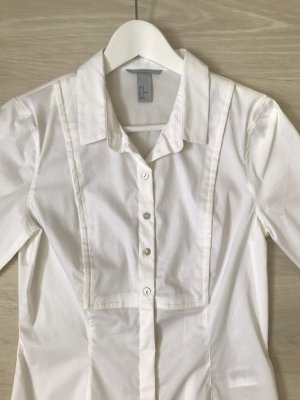 H&M Stand-Up Collar Blouse white