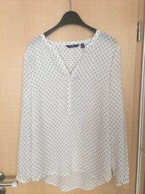 Weiße Bluse mit Mustern Gr.38