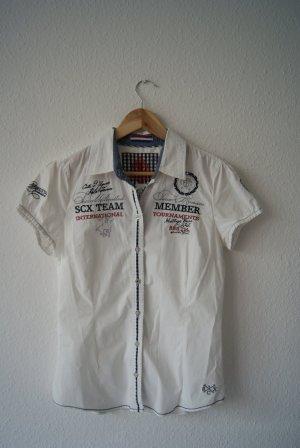weiße Bluse mit Print