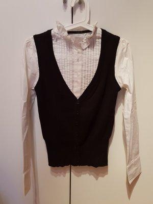 weiße Bluse mit Pullunder
