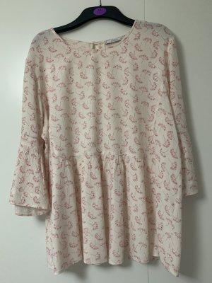 Mango Carmen Blouse white-pink