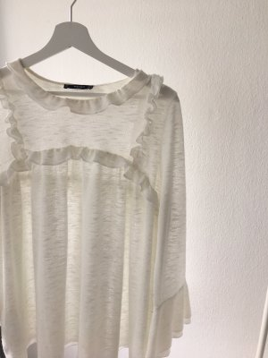 Mango Ruche blouse room-wolwit